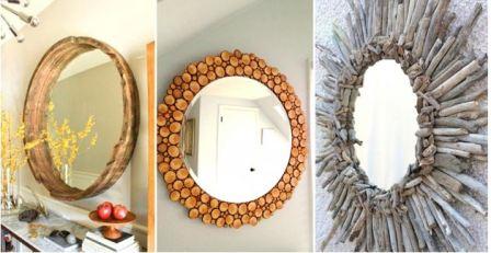 Зеркало в деревянной раме своими руками