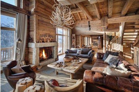 Дом в деревенском стиле интерьеры фото