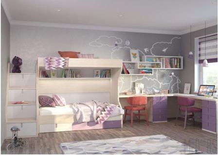Детская мебель для двух девочек