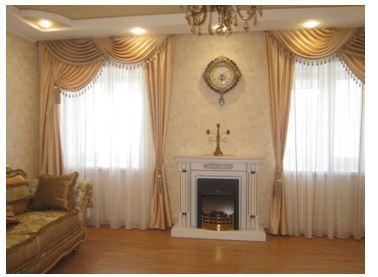 Комплект штор с тюлью для гостиной готовые