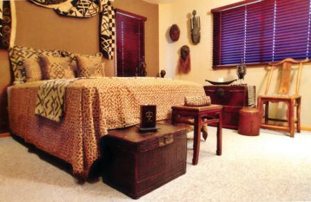 Спальня в африканском стиле