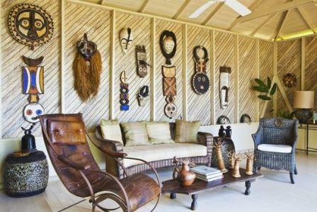 Комната в африканском стиле фото