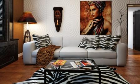 Африканский стиль в интерьере фото