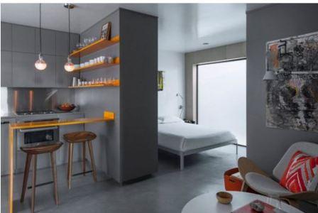 Интерьер маленькой кухни в квартире