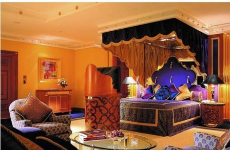Интерьер спальни арабском стиле