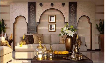 Арабский стиль в интерьере комнаты