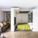 Как поставить кровать в однокомнатной квартире