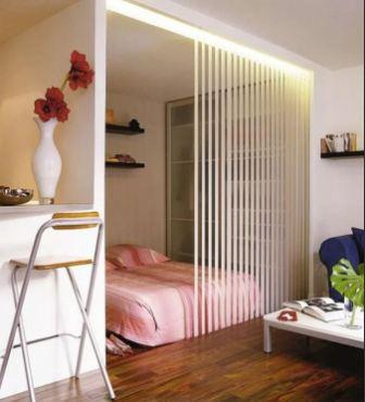 Кровать в однокомнатной квартире