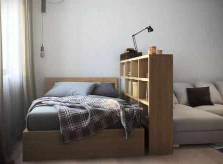 Кровать в однокомнатной квартире: фото
