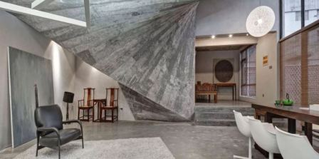 Штукатурка бетон в интерьере
