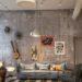 Оформление интерьера под бетон