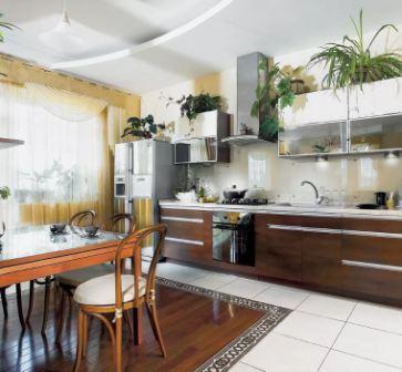 Кухня на западе по фен шуй