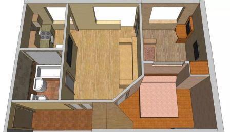 Перепланировка комнатной квартиры хрущевки