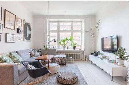 Гостиная +в доме: скандинавский стиль