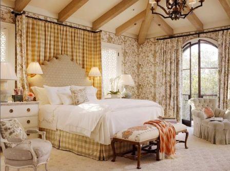 Спальня в стиле кантри: фото