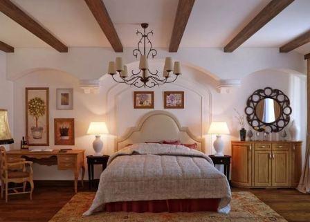 Спальня в стиле кантри прованс