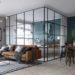 Оригинальный интерьер со стеклом