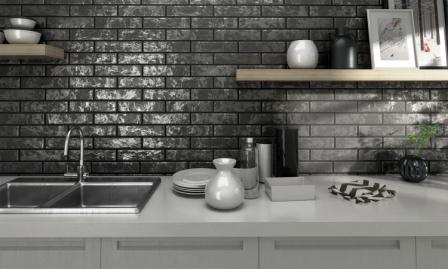 Фартук для кухни из плитки дизайн