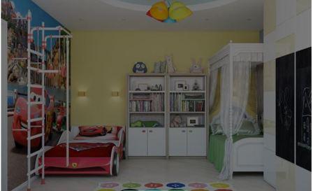 Комната для двойняшек девочек