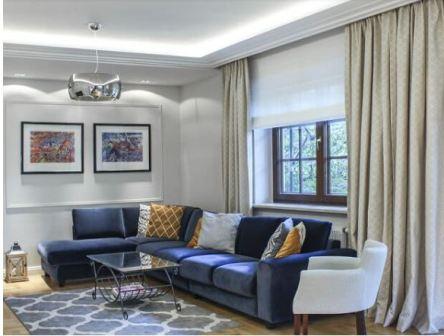 Синяя гостиная дизайн фото