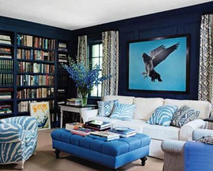 Синяя гостиная: фото