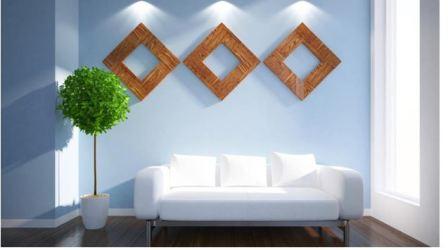 Дизайн гостиной синий
