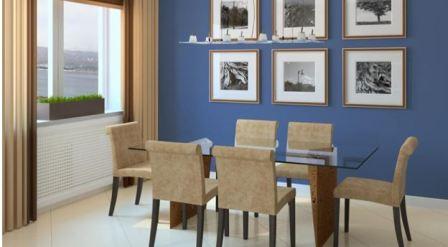 Серо синяя гостиная