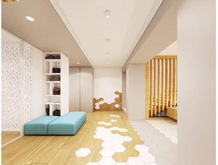 Прихожая в скандинавском стиле в квартире
