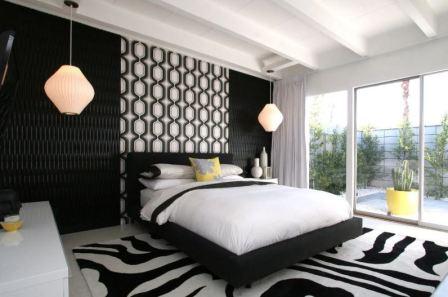 Сочетание белого в интерьере спальни