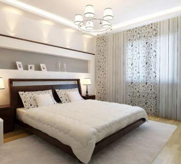 Белый цвет в интерьере спальни
