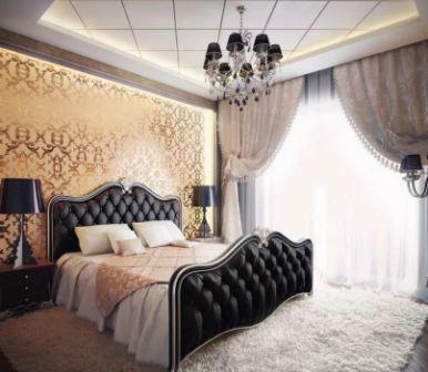 Современный интерьер белой спальни