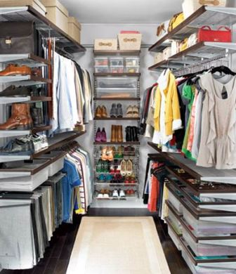 Фото гардеробных комнат маленькие