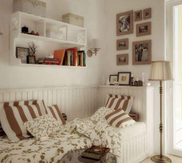 Спальня в небольшой комнате