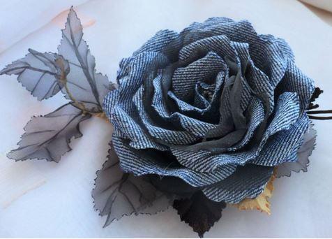 Фото цветов из ткани своими руками