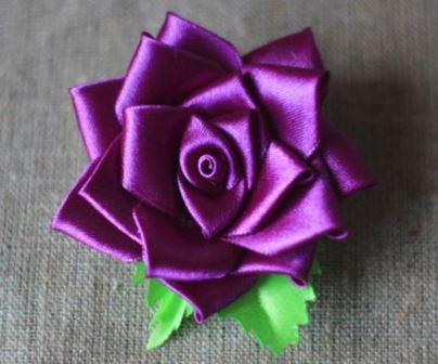 Цветы из ткани мастер класс