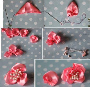 Цветы своими руками из ткани для начинающих