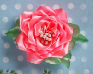 Цветы из ткани пошагово