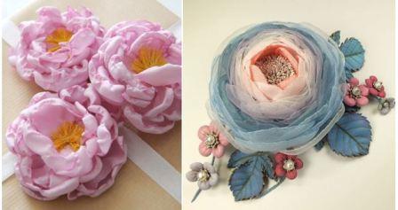 Цветы своими руками из ткани пошагово
