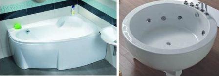 Угловая ванна в маленькой ванной