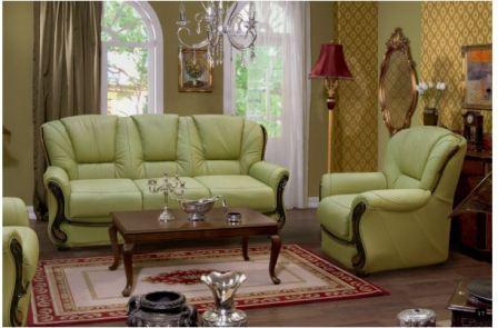 Зеленый интерьер гостиной