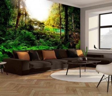Зеленый интерьер гостиной: фото