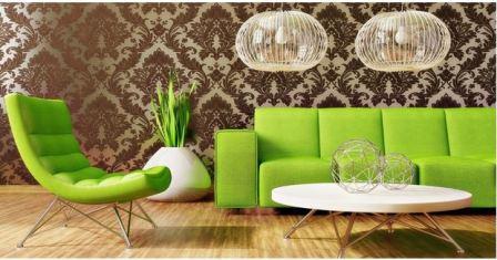 Гостиные мебель зеленая
