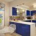 Оформление кухни в синих тонах