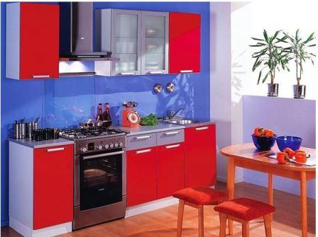 Синяя кухня в интерьере
