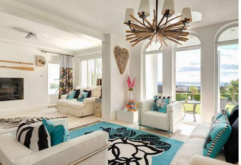Гостиная в морском стиле интерьер
