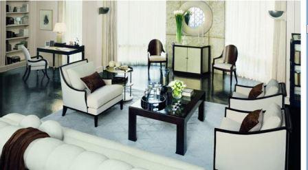 Дизайн гостиной в стиле арт деко