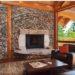 Оформление интерьера комнат декоративным камнем