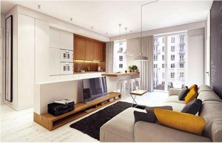 Интерьер маленькой квартиры студии