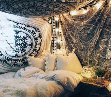 Спальня в стиле бохо фото