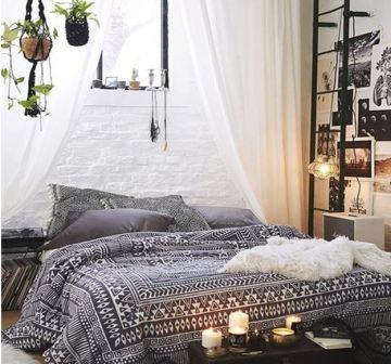 Бхо в интерьере спальни